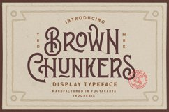 Brown Chunkers - Display Typeface Product Image 1