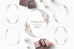 Vintage wedding clipart | Pink floral wreath clipart Product Image 1