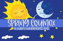 Spring Equinox - A Quirky Handlettered Font Product Image 1