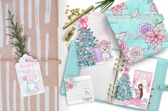 Winter Wishes - pink Christmas clipart collection Product Image 4