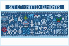 Knitted elements, symbols and Christmas decorations Product Image 2