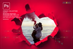 Torn Paper Overlay & Photoshop overlay valentines Product Image 3