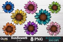 Sunflower PNG Bundle, Sunflower Sublimation PNG Product Image 1