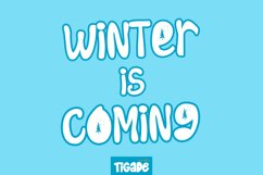 Keep Snowing - Winter Theme Display Font Product Image 3