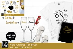 Here Comes the Bride MEGA Bundle - Wedding SVG and Cut Files Product Image 2