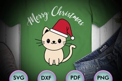 CAT SVG XMAS, Cat Christmas, cream cat, cat happy xmas Product Image 1
