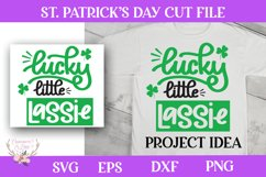 St. Patrick's Day SVG - Lucky Little Lassie Product Image 1