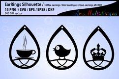 earring svg silhouette / Teardrop Earrings svg Template Product Image 2