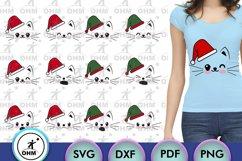 Christmas Cat Expression Bundle, Cricut Maker, Silhouette, Product Image 1