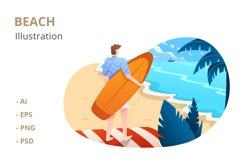 Beach Illustration Product Image 1