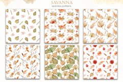 Savanna dried flowers and leaves Watercolor Product Image 14