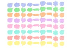 Speech bubbles Chat bubble Colorful Text clouds clipart Product Image 2