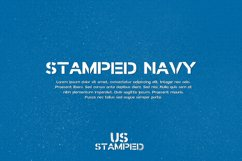 Stamped Navy Font Product Image 2