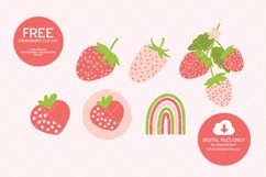 Strawberry Digital Paper Seamless Product Image 2