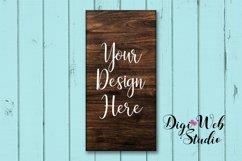 Wood Sign Mockup - Wood Sign on Cottage Blue Shiplap Product Image 1