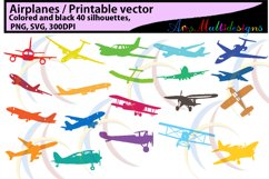 Airplane / aeroplane / printable aeroplane / SVG FILES /silhouette / vector / black & color / airplane silhouette / aeroplane silhouette Product Image 1