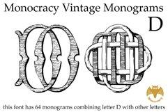 Monocracy Vintage Monograms D Product Image 3