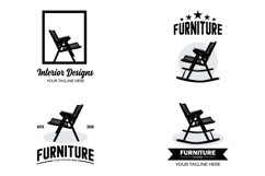 Collection of furniture logo set design template Product Image 1