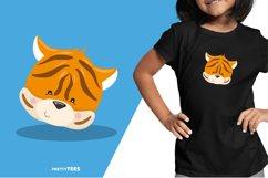 Animal Face Tiger T-Shirt Design | Sublimation T-Shirt Product Image 4