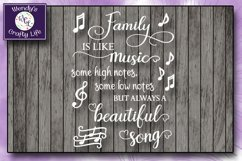 Family music wall quote - SVG - PNG - PDF - 2 Jpeg files Product Image 2