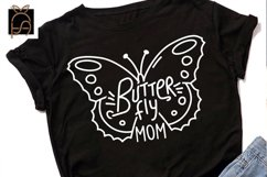 Butterfly Mom - Nana - Girl SVG DXF EPS PNG Product Image 3