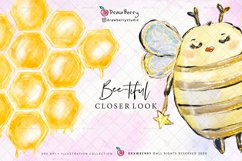 Honey Bumble Bee Glam Clipart PNG   DrawBerry CP007 Product Image 5