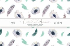 Cotton & Anemones Seamless Patterns Product Image 5
