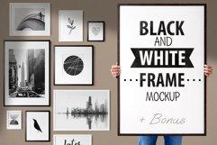 BLACK AND WHITE FRAME MOCKUP Product Image 1