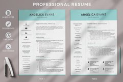 Modern Resume Template and Cover Letter. Fully editable CV Product Image 2