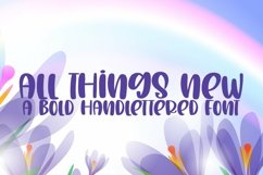 Web Font All Things New - A Bold Handlettered Font Product Image 1