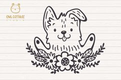 Valentine Dog svg , Puppy with floral decor Svg Product Image 4