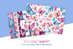 Butterflies Digital Papers Product Image 5