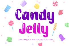 Candy Jelly Playful Display Font Product Image 1