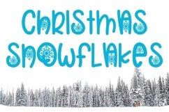 Web Font Christmas Snowflakes Font Product Image 1
