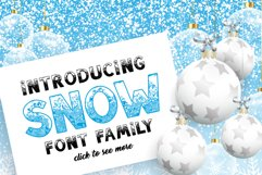 SNOW - Font Family for Christmas! Product Image 2