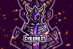Cyberbot Robot Esport Gaming Logo Product Image 1