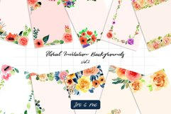 Floral Invitation Backgrounds Vol.2 Product Image 1