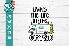 Living Life At the Campsite RV SVG Product Image 2