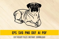 Pug Dog svg, Breed Dogs SVG, Pet Pup Product Image 1