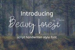 beauty forest script handwritten font Product Image 1