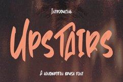 Web Font Upstairs - Handwritten Brush Font Product Image 1