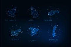Europe countries futuristic maps. Product Image 2
