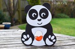 Panda Easter egg holder design SVG / DXF / EPS Product Image 3