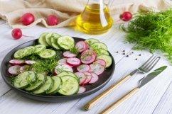 Fresh cucumber and radish salad Product Image 1