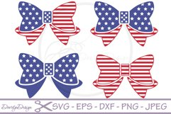SVG 4th of July Bows 4 Cutting files Product Image 1