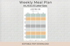 Weekly Meal Planner, Editable Meal Planner Product Image 1