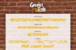 Genius Talk Brush Font Product Image 5