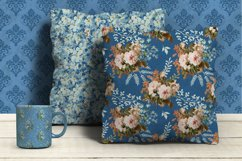 Shabby chic roses seamless patterns Product Image 6