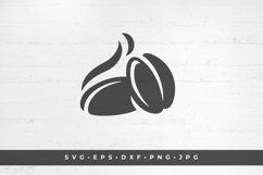 Aromatic coffee beans icon silhouette isolated on white Product Image 1