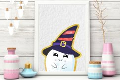 Cute Halloween Clipart, Halloween clipart, ghost clipart Product Image 2